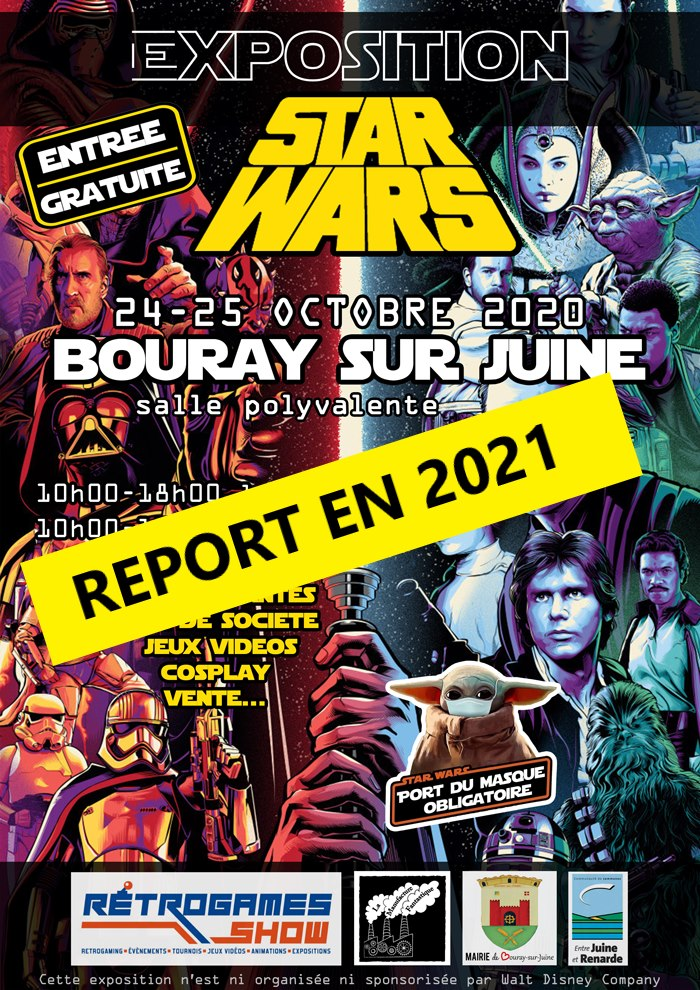 expo star wars reportée