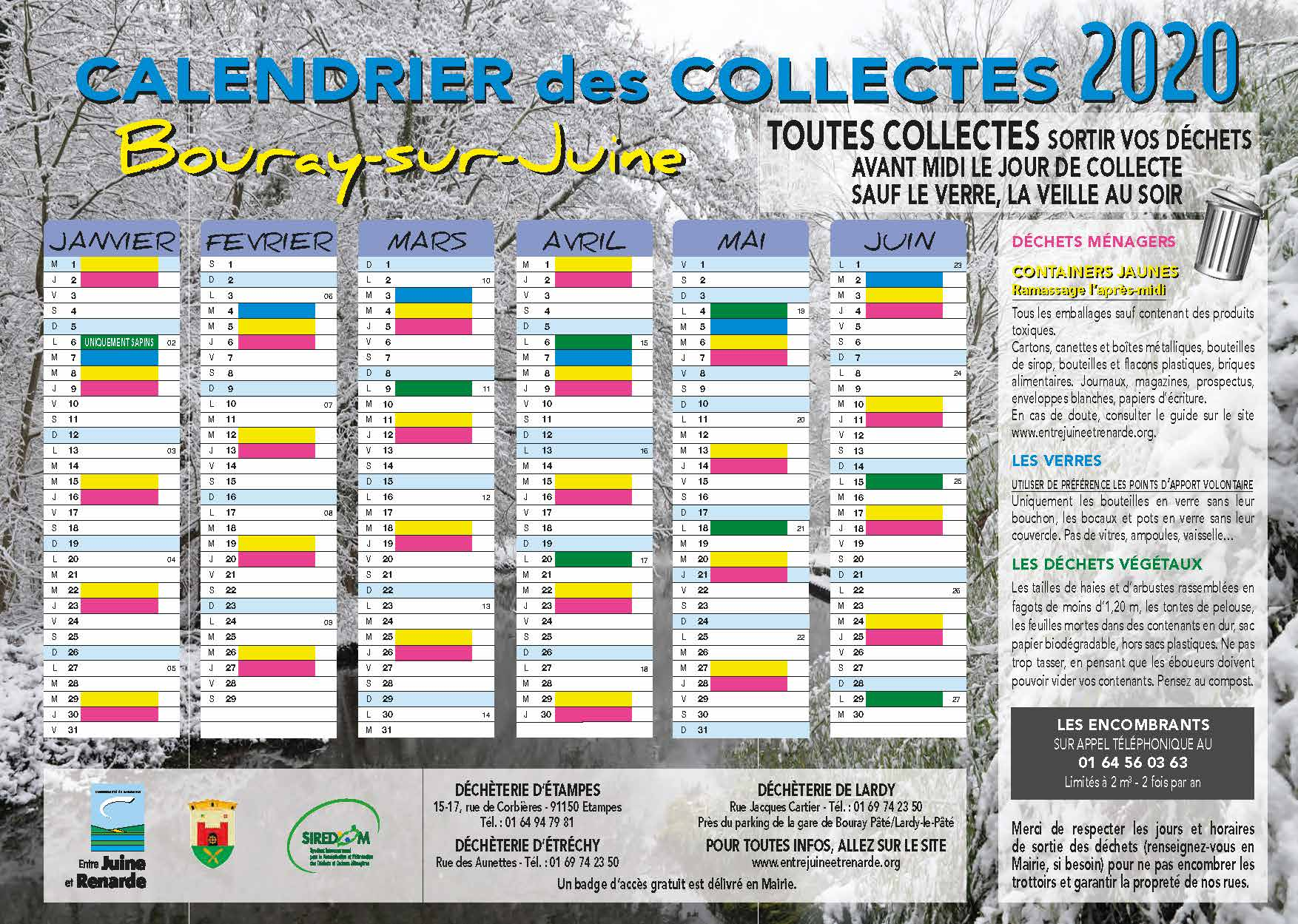 CCJR Calendrier Bouray sur Juine 2020 A4 Recto Verso Page 1