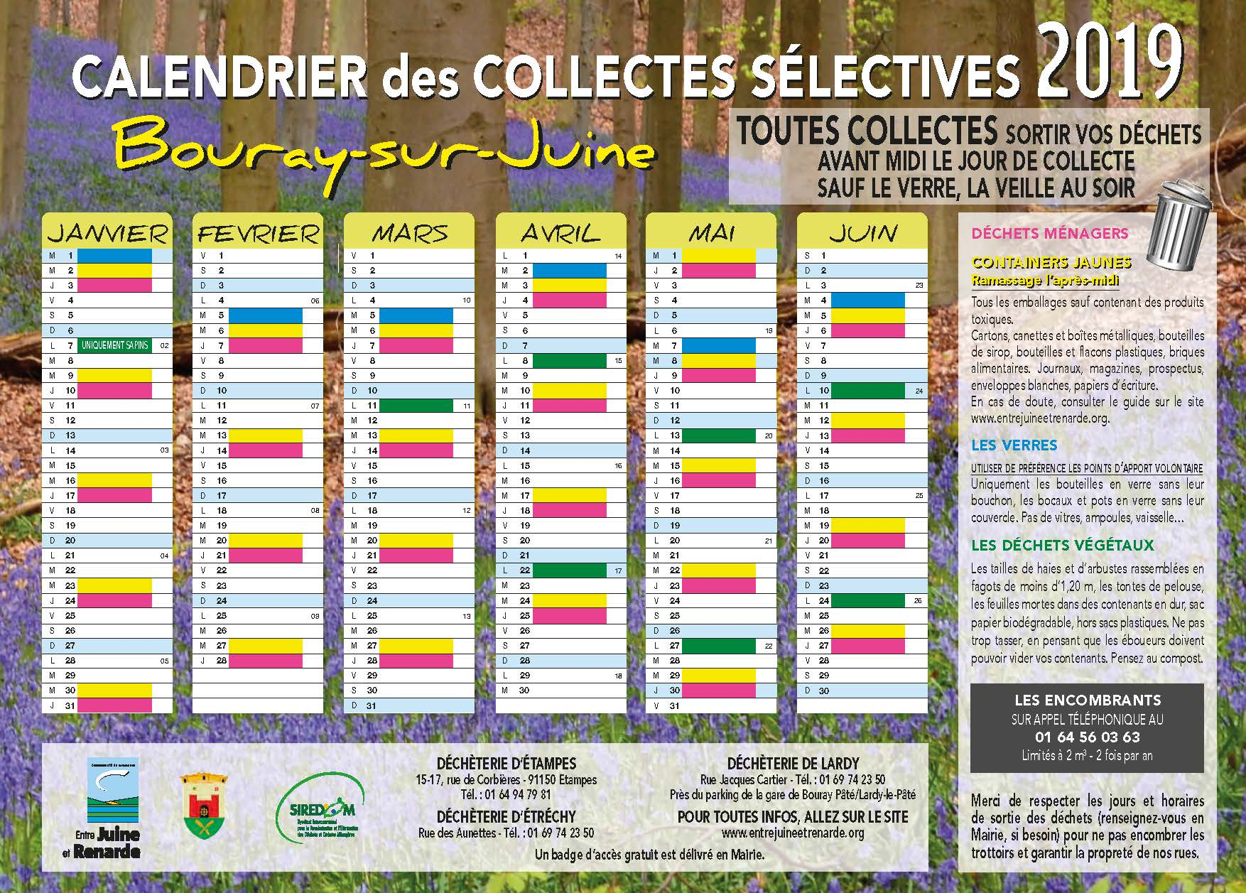 CCJR - Calendrier Bouray-sur-Juine 2019 A4 Recto Verso Page 1