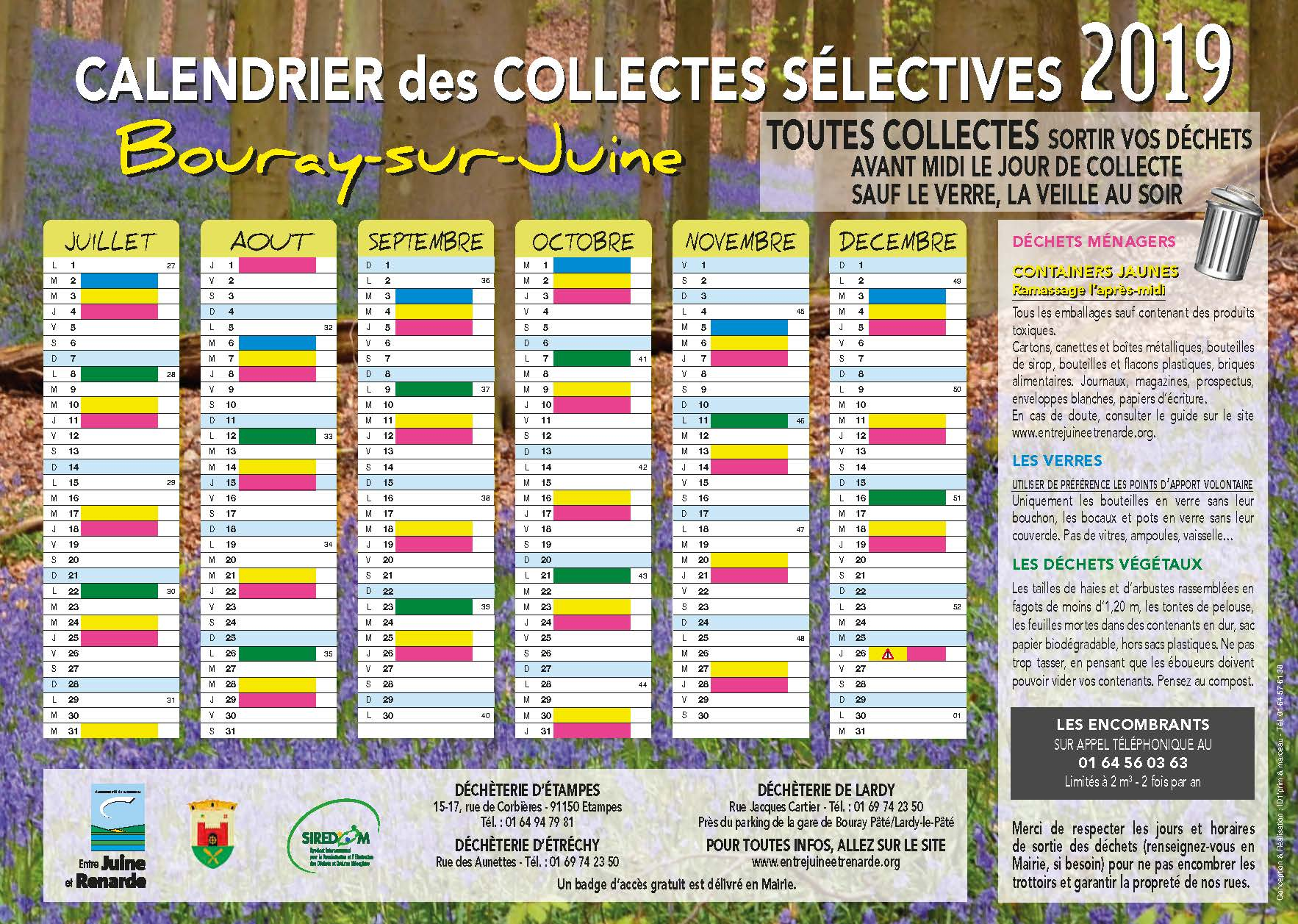 CCJR - Calendrier Bouray-sur-Juine 2019 A4 Recto Verso Page 2